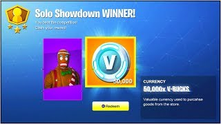 "COMMENT GAGNER 50000 VBUCKS GRATUIT dans Fortnite Battle Royale! (NOUVEAU ""Solo Showdown"" LTM Gameplay!)"