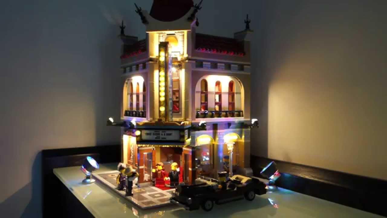 Eclairage Led Cinema Lego 10232 Palace Cinema Led Lights Demonstration