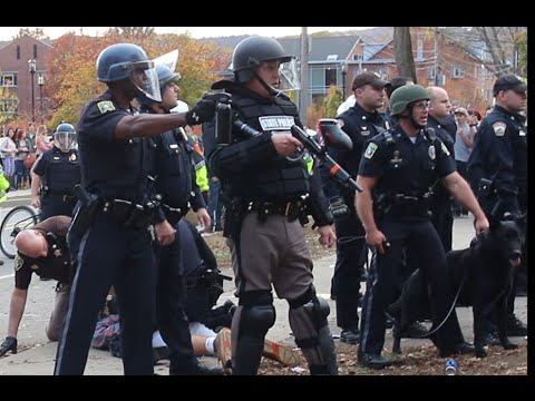 Riot Police Shoot Pepper Spray at Keene State Students