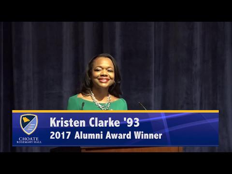 Kristen Clarke - Alumni Award  2017