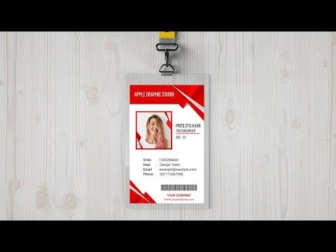 Creative ID Card Design - Photoshop CC Tutorial thumbnail