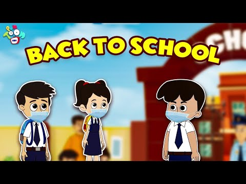 Back to School   Getting Ready For School   Animated Stories   English Cartoon   Moral Stories