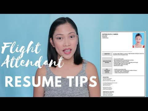 HOW TO BECOME A FLIGHT ATTENDANT | How To Make Your Resume Great? + Flight Attendant Resume TIPS