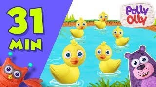 Five Little Ducks | Popular Nursery Rhymes Collection by Polly Olly
