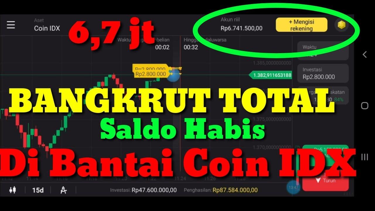 Download Trading Binomo,BANGKRUT TOTAL,Saldo Habis Di Hajar Coin IDX,Ajur Cokk