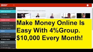 Make money with four percent group ...