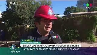 Consecuencias por el hundimiento del pavimento en Costanera Norte