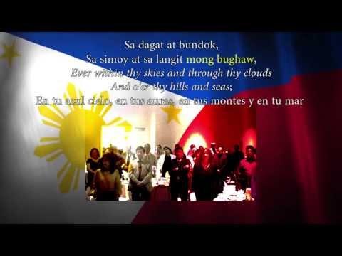 Lupang Hinirang lyrics with English and Spanish translations.