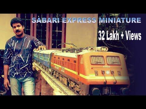 Train Miniature Model Making & Running indian train sabari express