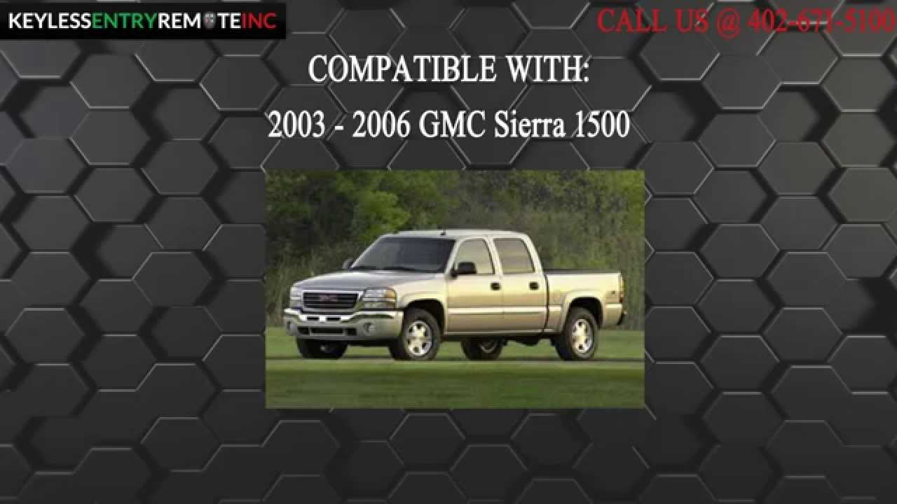 How To Replace Gmc Sierra 1500 Key Fob Battery 2003 2004 2005 2006