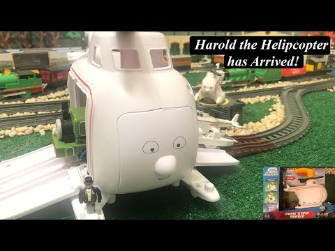 Thomas And Friends Toy Train Character-Trackmaster Press-N-Spin Harold The Helicopter!
