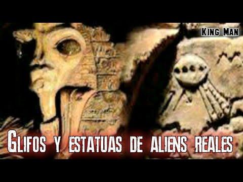 Images de ovnis y extraterrestres encontradas ocultas en las piramides de Egipto
