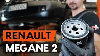 Comment changer Filtre à Huile RENAULT MEGANE II Saloon (LM0/1_) - guide vidéo