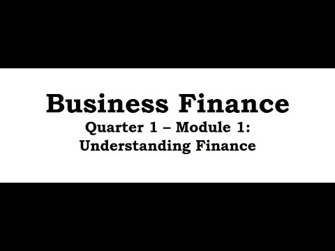 Business Finance Module 1