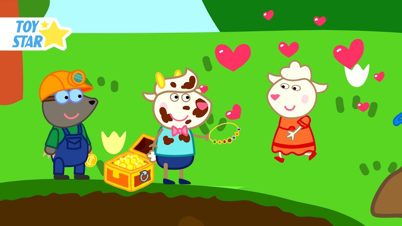 Dolly Fell in Love When She Saw Gold. Funny Cartoon for Kids