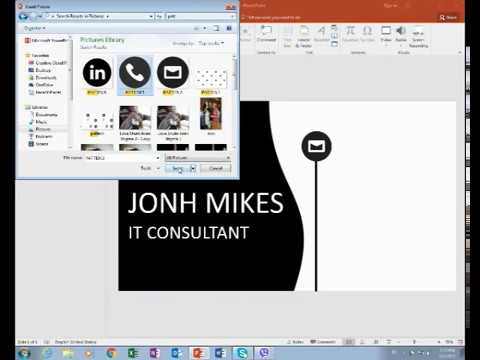 How to make business cards in powerpoint romeondinez how reheart Choice Image