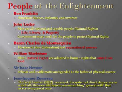 The Enlightenment and Great Awakening