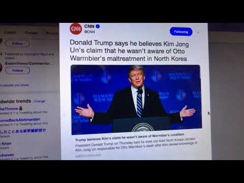 Kim Jong Un Lied To Donald Trump On Otto Warmbier Ask Dennis Rodman