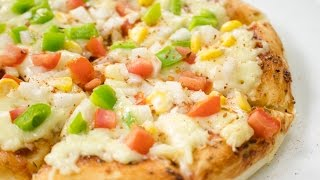 Tawa Pizza Recipe | Start to Finish Veg Cheese Pizza in Pan without Oven | No Oven Pizza