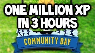 WHAT?! 1+ MILLION XP in POKEMON GO in 3 HOURS? EASY! (Pokémon GO FAST XP) - Pokémon GO Community Day