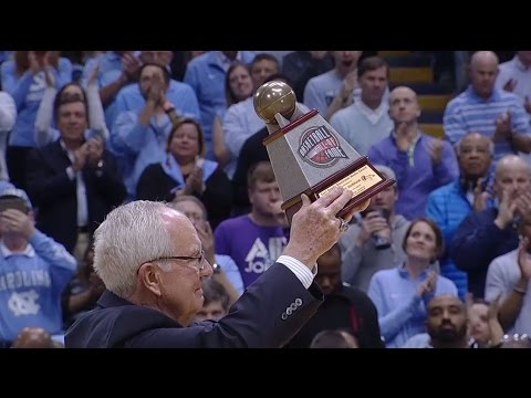 UNC Men's Basketball: Woody Durham Honored in Smith Center for Gowdy Award