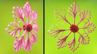 3D Paper Snowflake Tutorial | Very Easy DIY Crafts