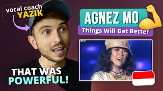 Vocal Coach YAZIK reaction to Agnez Mo - Things Will Get Better
