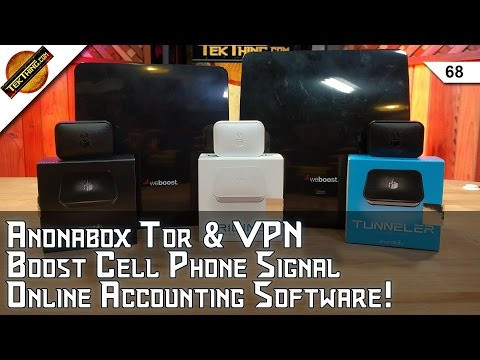 Anonabox TOR & VPN, WeBoost Eqo, Online Accounting Software, Android Music Apps, Cheap USB Fix!