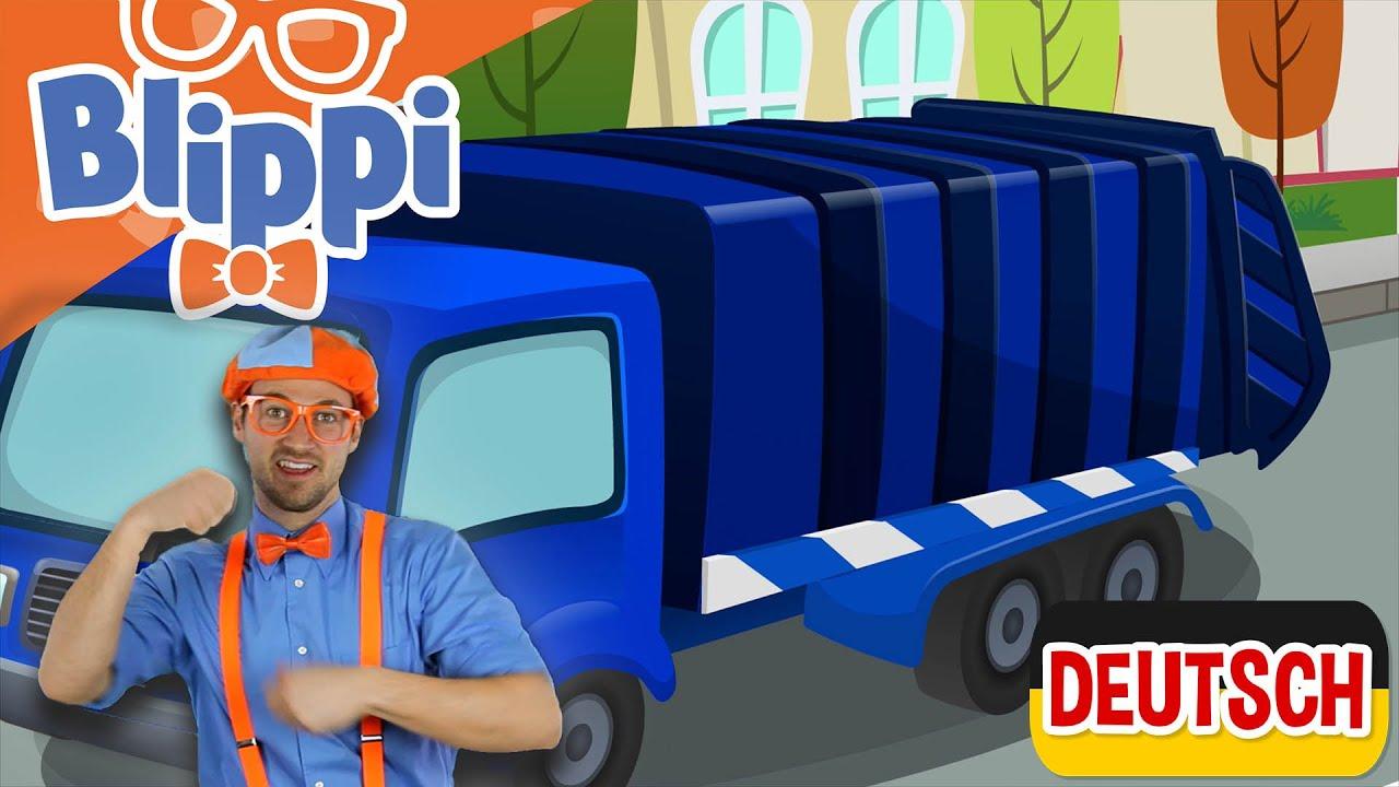 Blippi Deutsch - Blippi recycelt mit Müllwagen | Abenteuer für Kinder | Kinder Videos