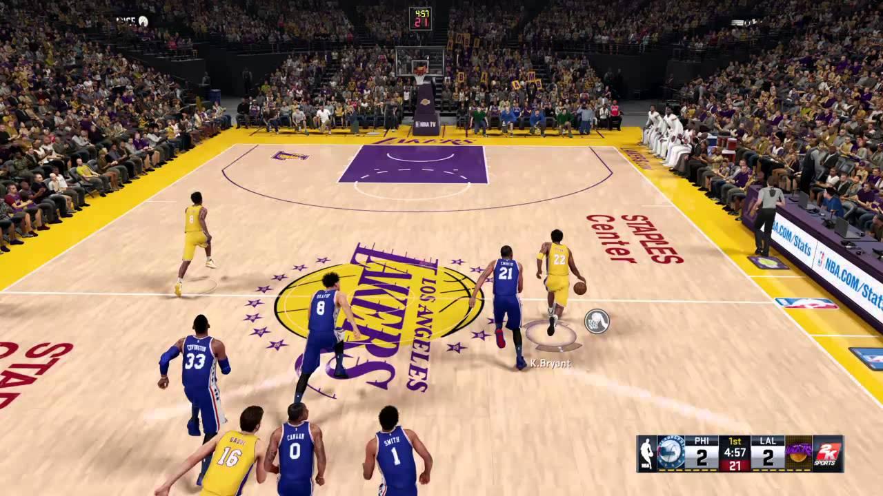 online retailer 81b2f a510e NBA 2K16 Kobe Bryant 360 Dunk!!!!