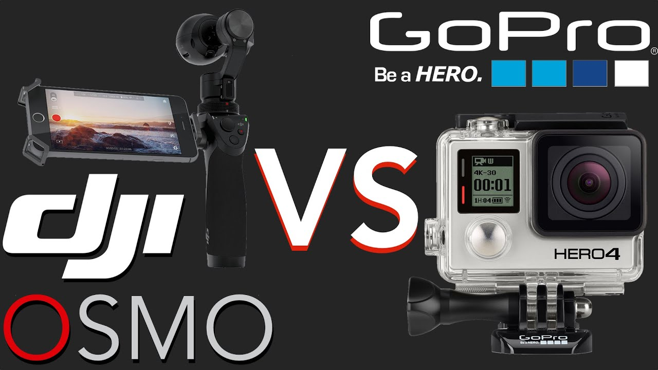 DJI OSMO Vs GoPro HERO 4 Black Edition