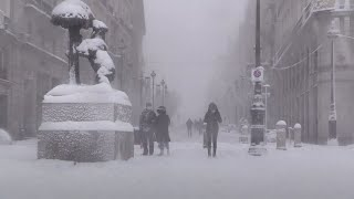 video: Spain blanketed in heavy snow as record-breaking blizzard brings Madrid to standstill