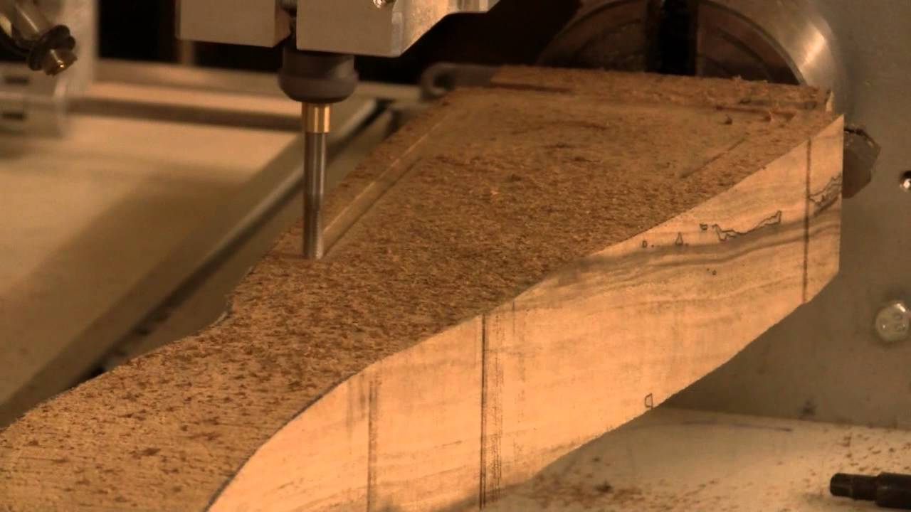3D CNC gunstock carving