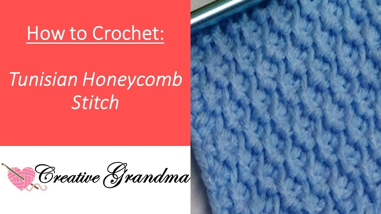 How To Crochet The Tunisian Honeycomb Stitch Youtube