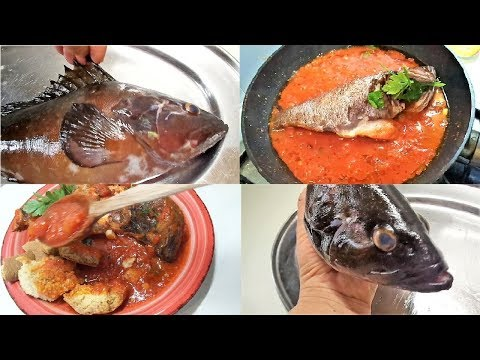 Grouper soup italian recipes. How do you clean grouper fish?   Zuppa di Cernia.