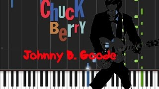 Chuck Berry - Johnny B. Goode [Piano Tutorial] (♫)