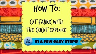How to cut fabric with the Cricut.