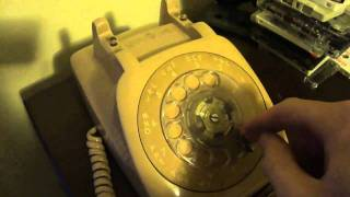 Real Rotary Phone Call- GTE Automatic Electric desk phone