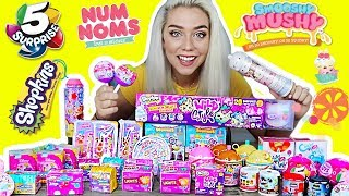 UNBOXING 100 SURPRISE TOYS! $800 SUPRISE TOYS! NUM NOMS, 5 SURPRISE, SHOPKINS, SMOOSHY MUSHY