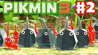 Pikmin 3 - Day 2 - Rock Pikmin (Nintendo Wii U Gameplay Walkthrough)