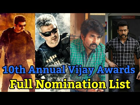 Nominees Of 10th Annual Vijay Awards | Vijay Awards | Favourite Category | HiFi Today's Spark