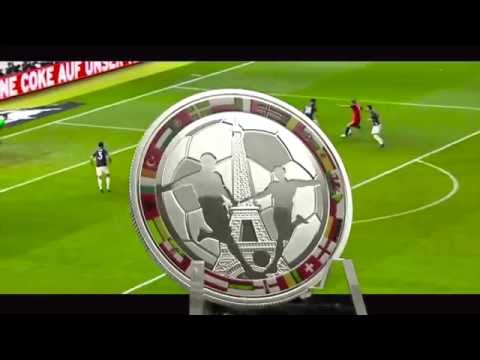 "$1 Silver coin - ""Soccer Coin"" - European Football Championship in France - Niue Island 2016"