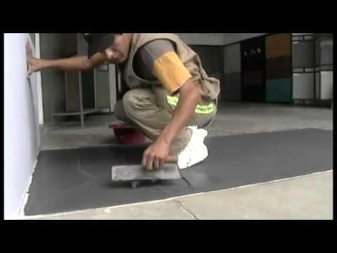 Microcemento s a c aplicacion en pisos youtube - Aplicacion de microcemento en paredes ...