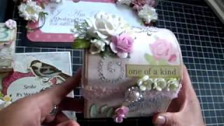 Shabby Chic card, gift card holder and altered trunk!