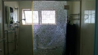 Shattering A Tempered Glass Door