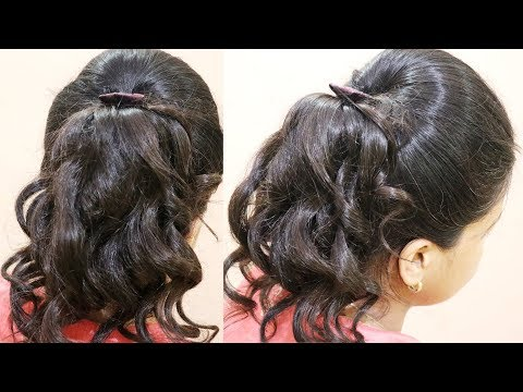 hairstyles-for-school-girls-with-curly-hair-|-brunette-hairstyle-for-medium-length-hair