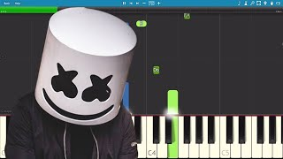 Marshmello ft. Khalid - Silence - Piano Tutorial