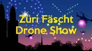 Züri Fäscht Drone Show by Powernewz (filmed with a Huawei Mate 20 Pro)