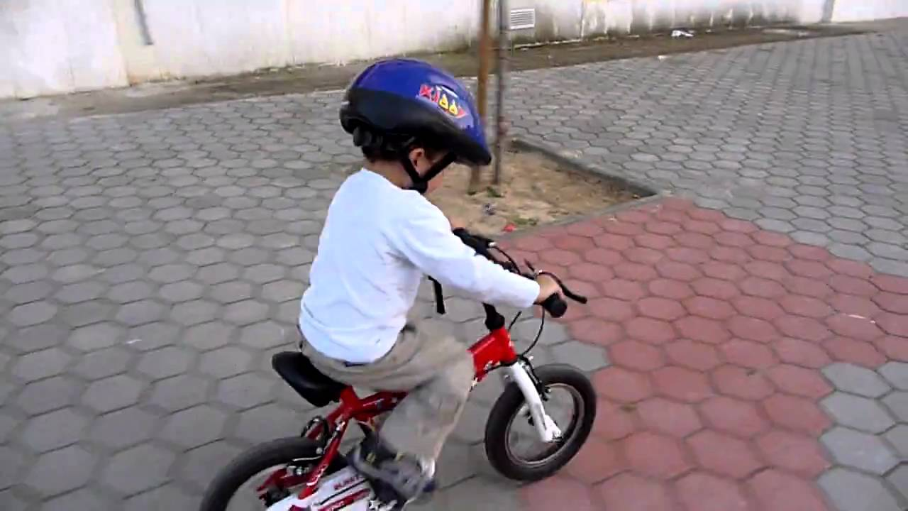 2 Year Old Baby Riding A Bicycle On The Day He Learned Youtube