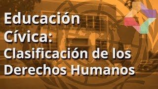 Clasificación  de los Derechos Humanos. - Educación Cívica - Educatina
